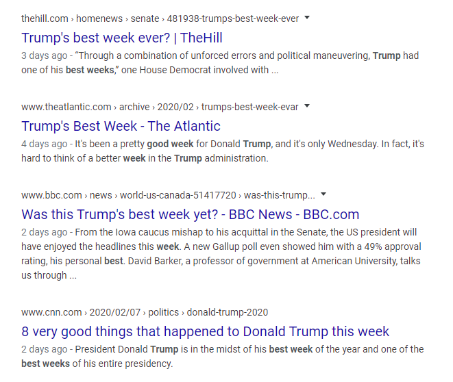 Mainstream Media: Best Week for Trump