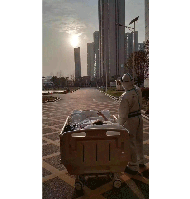 Wuhan Patient Watching Sunset