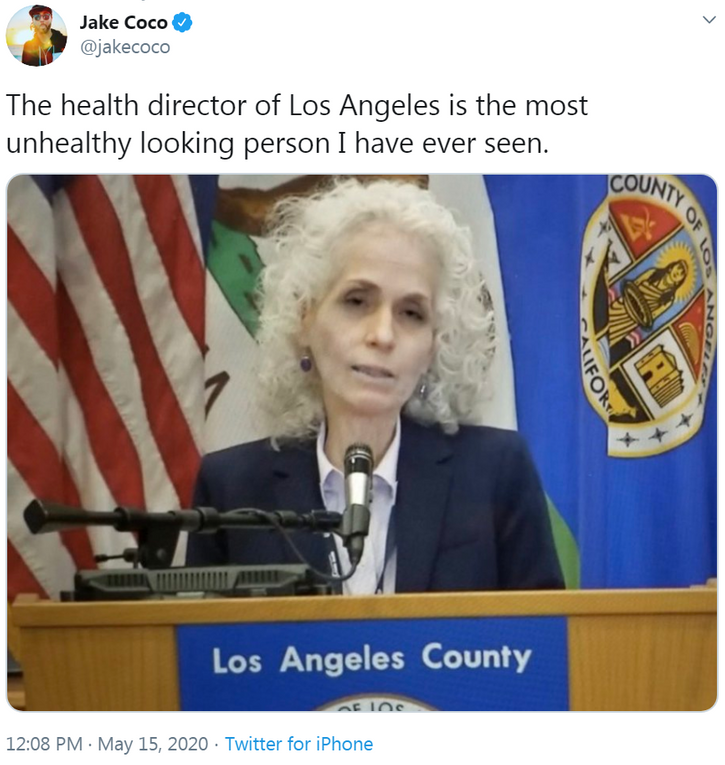 LA Health Director Unhealthy Looking