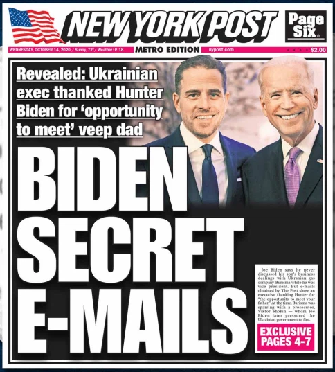 Biden Secret Emails - NY Post