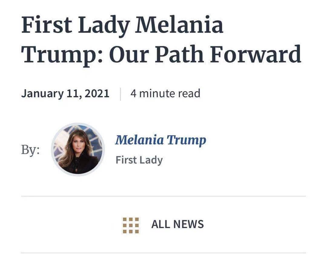 Melania Trump Path Forward