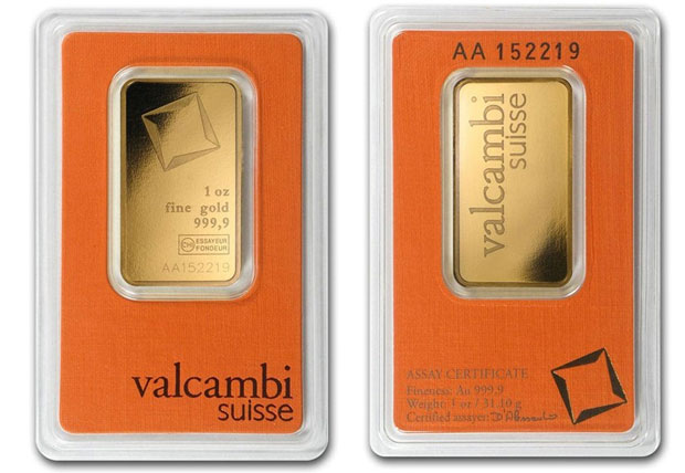 Valcambi Suisse Gold Bar 1oz in Assay